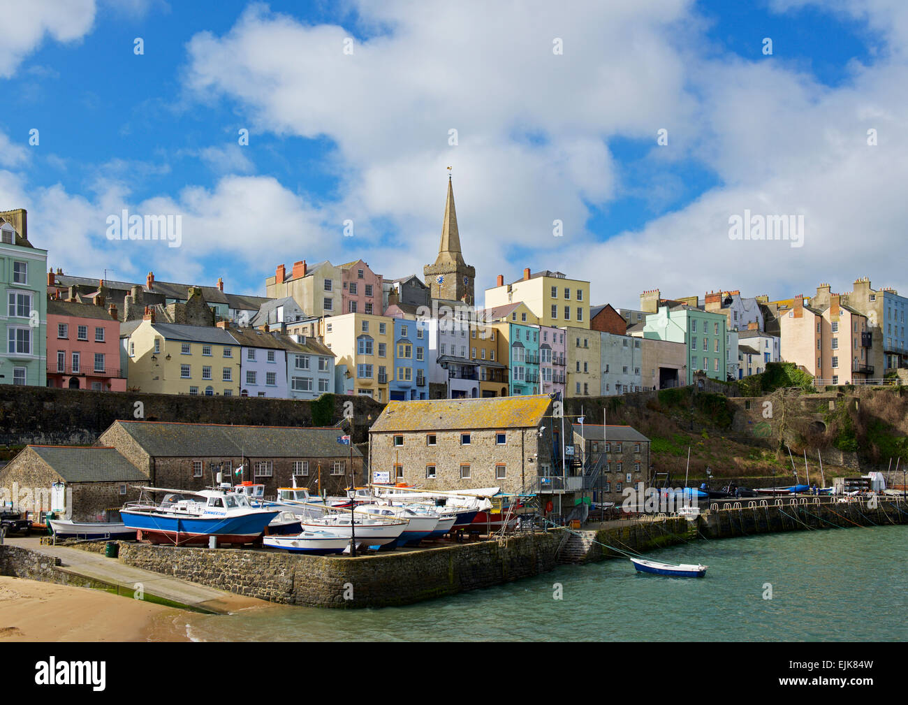 The harbour, Tenby, Pembrokeshire, Wales UK - Stock Image