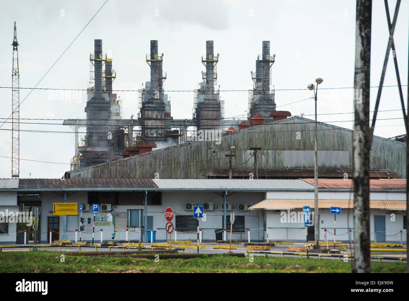 Bauxite factory, Suriname - Stock Image