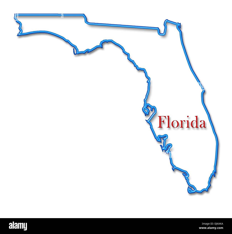 Florida Map Outline.Florida Map Stock Photos Florida Map Stock Images Alamy