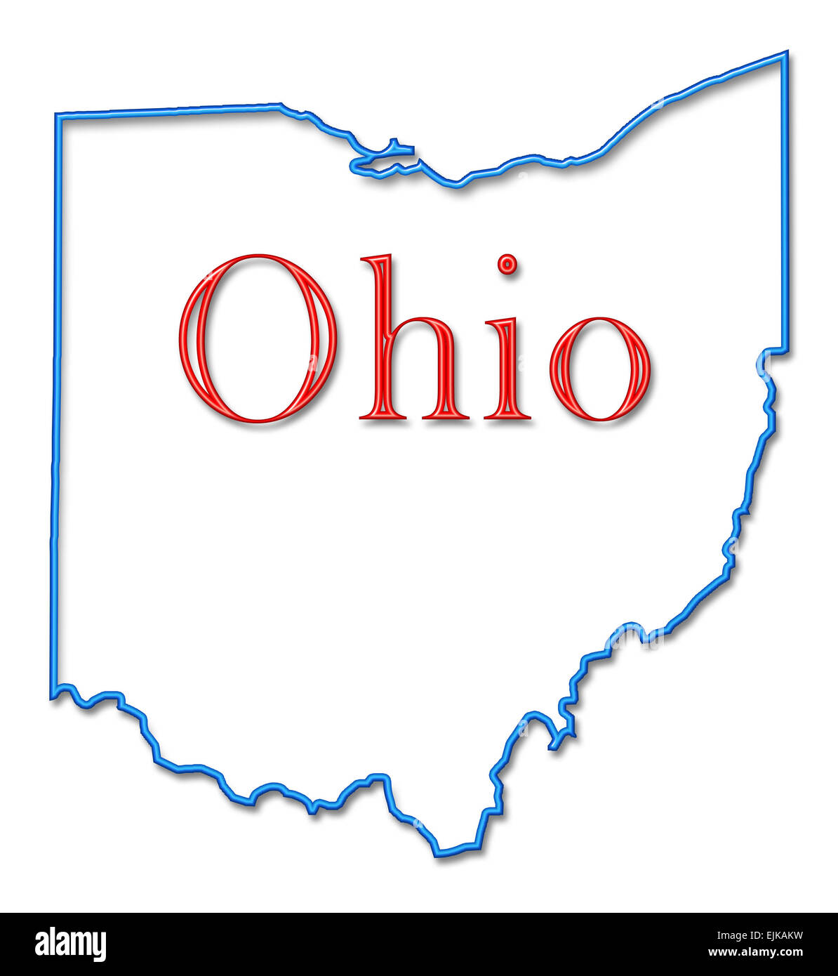 Outline Map Of Ohio.Ohio Map Cut Out Stock Images Pictures Alamy