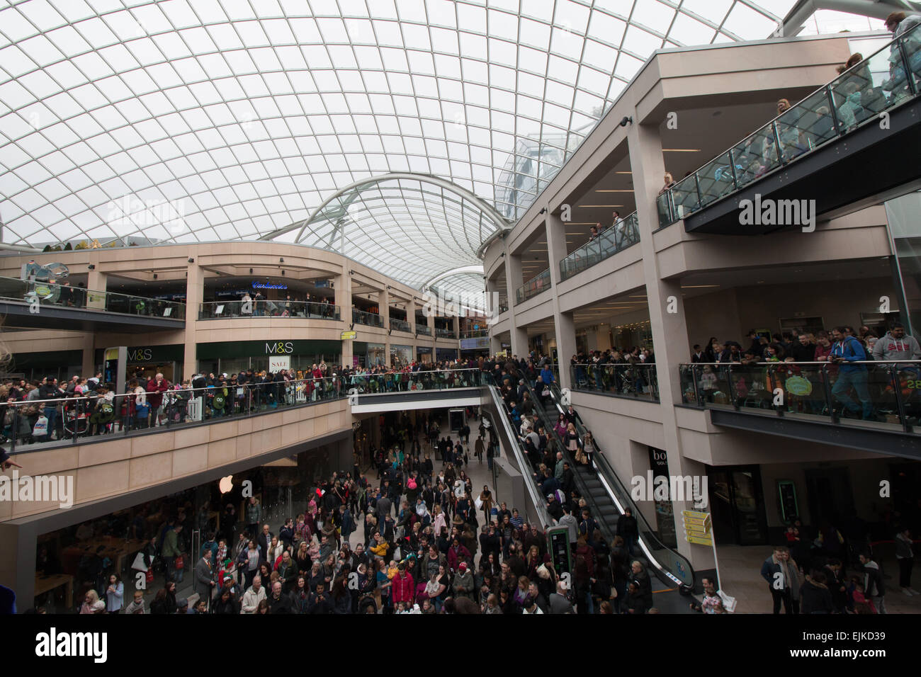 Shoppers in Trinity shopping centre, Leeds - Stock Image