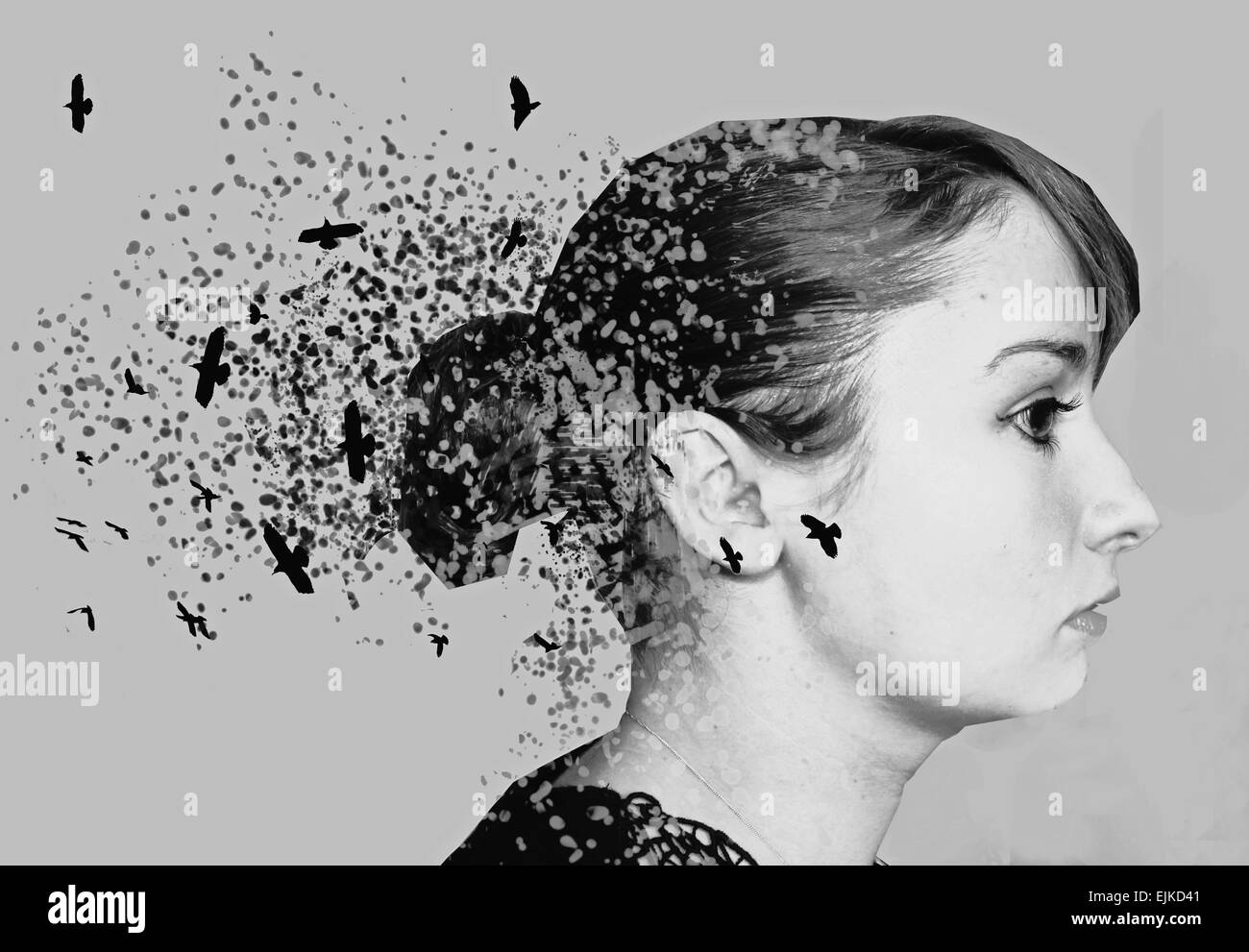 Black and white photography paint splatter abstract art artistic