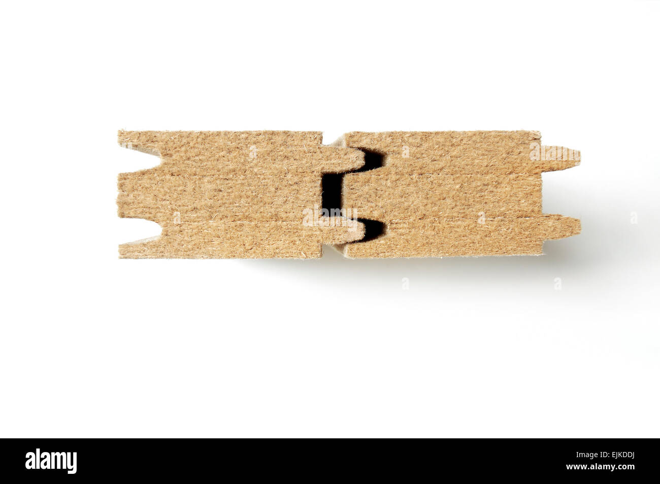 Wood fibre insulation boards - Stock Image
