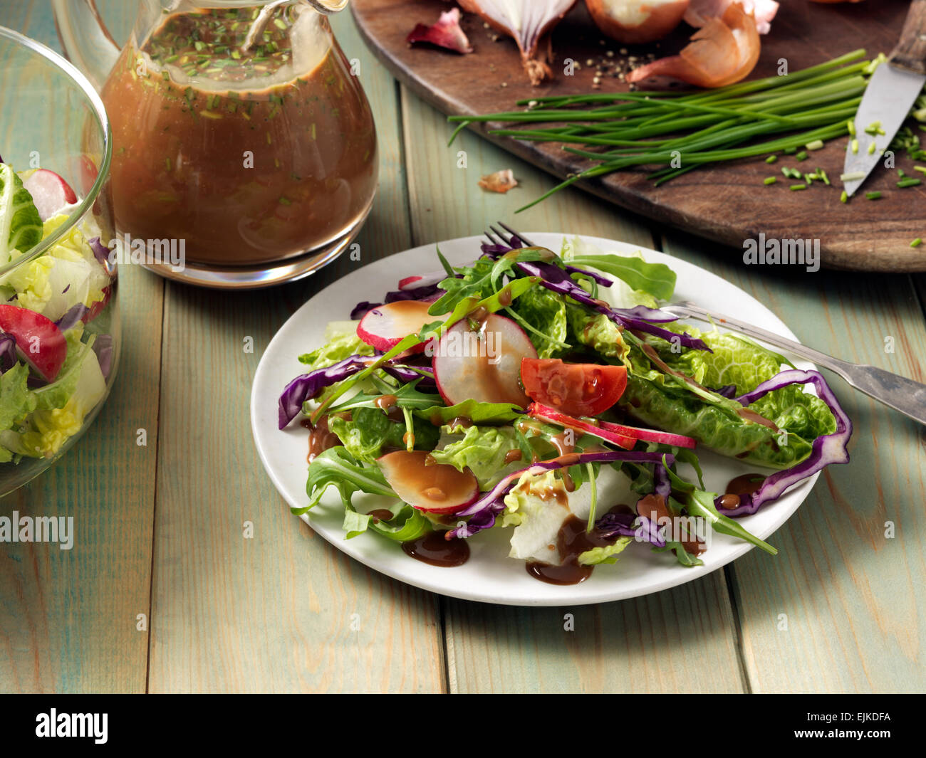 Balsamic honey vinaigrette Stock Photo