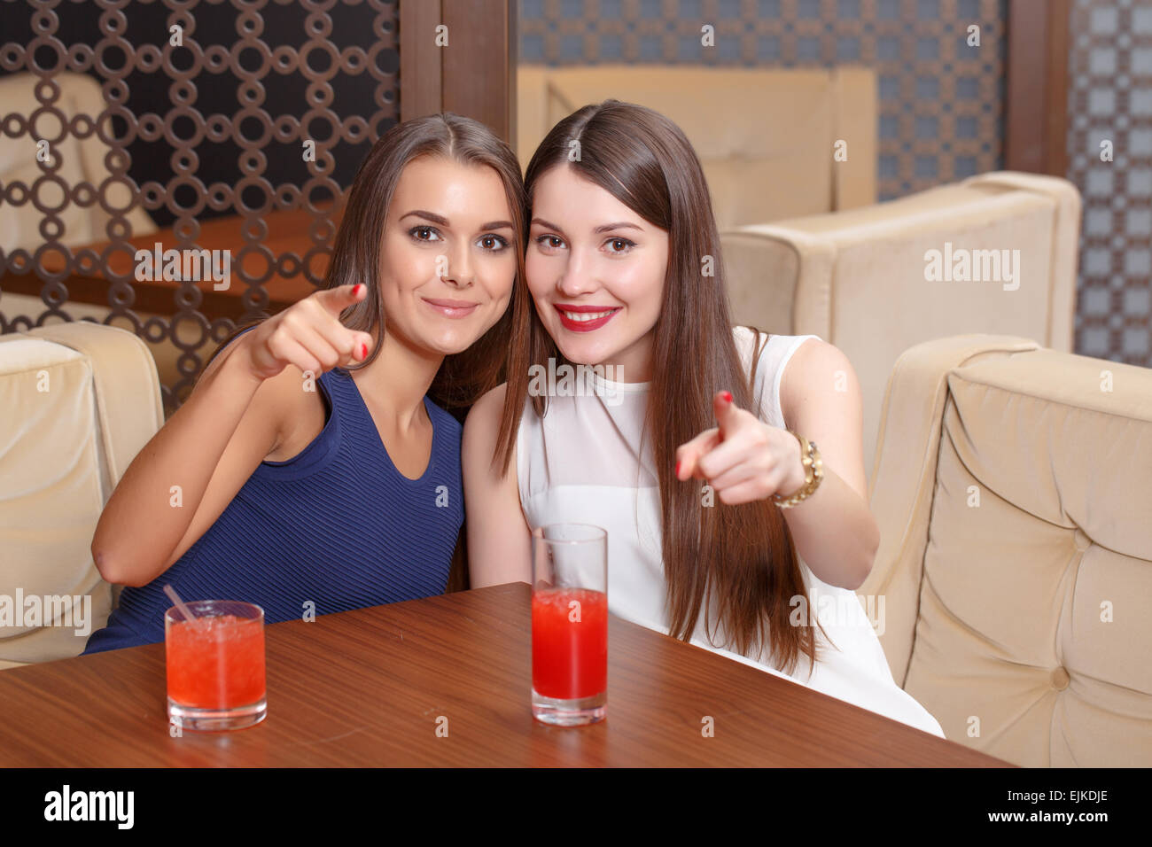 Women have fun at the party - Stock Image