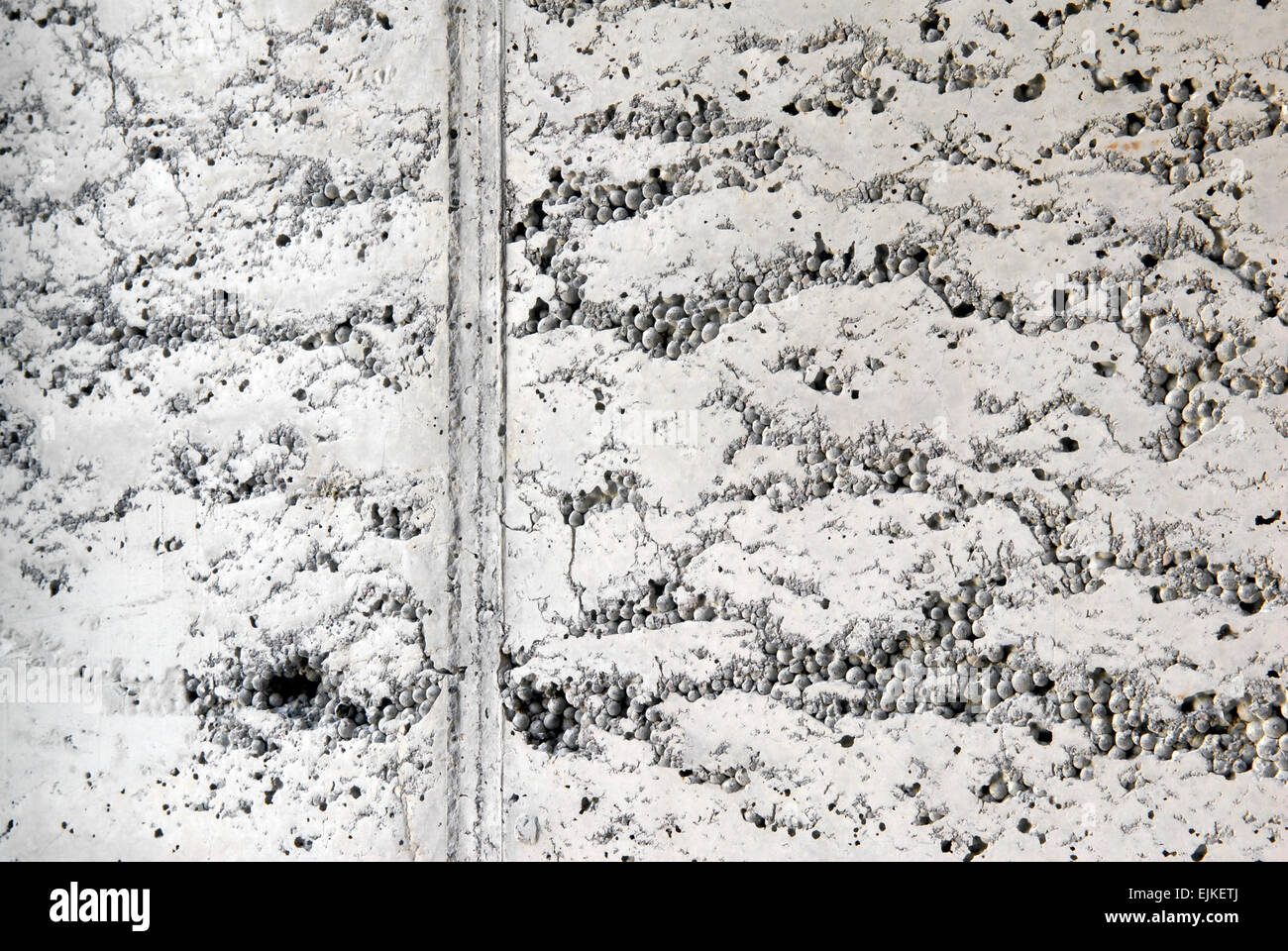 Detail of a concrete wall with structure - Stock Image