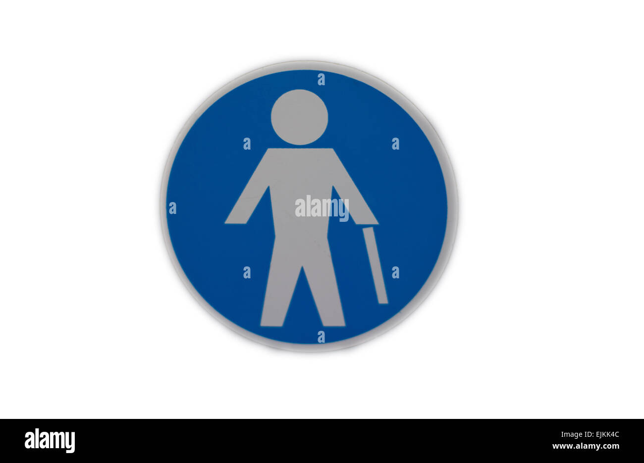 Sticker icon for elder people reserved seats at sapnish urban bus - Stock Image