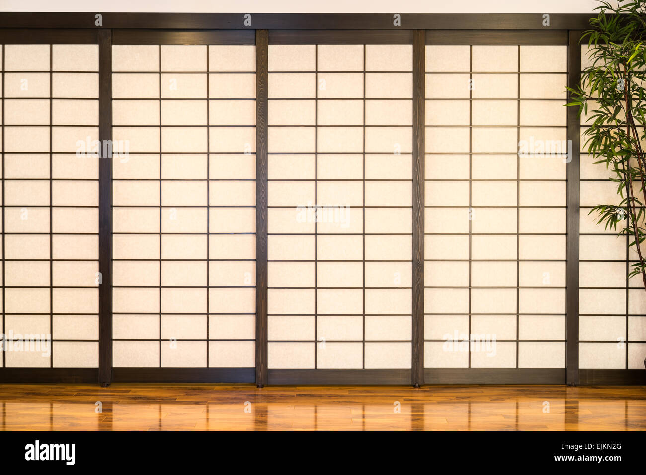 Japanese Screens - Stock Image
