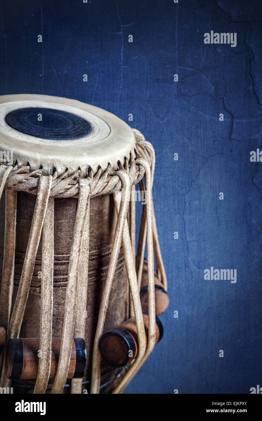 Tabla drum Indian classical music instrument close up - Stock Image