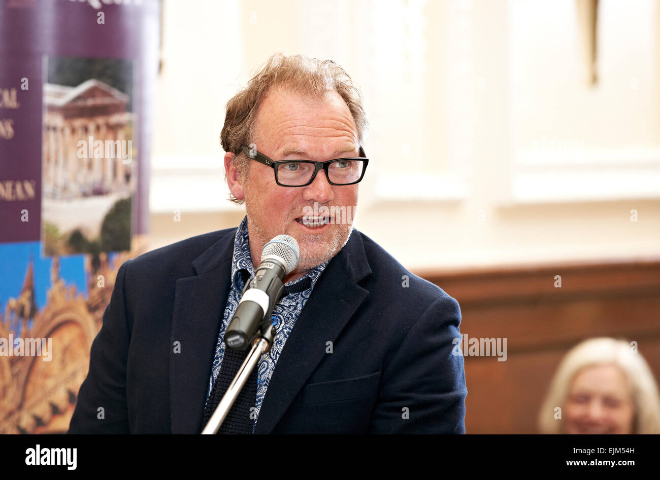 Alastair Hignell at the Oldie Literary Lunch 17/04/12 Stock Photo