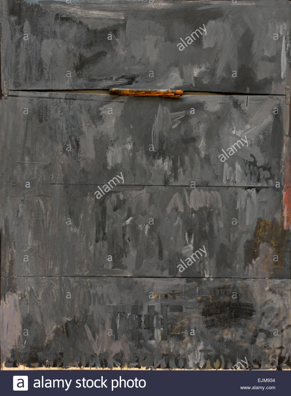 4 The News 1962 Jasper Johns 1930 American United States of America USA - Stock Image