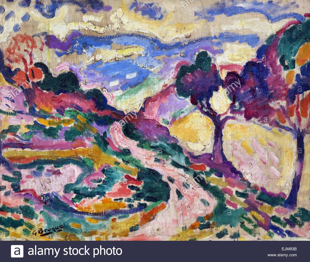 4523dd3767 Paysage de la Ciotat - Landscape of the Ciotat 1907 Georges Braque  1882-1963 France French