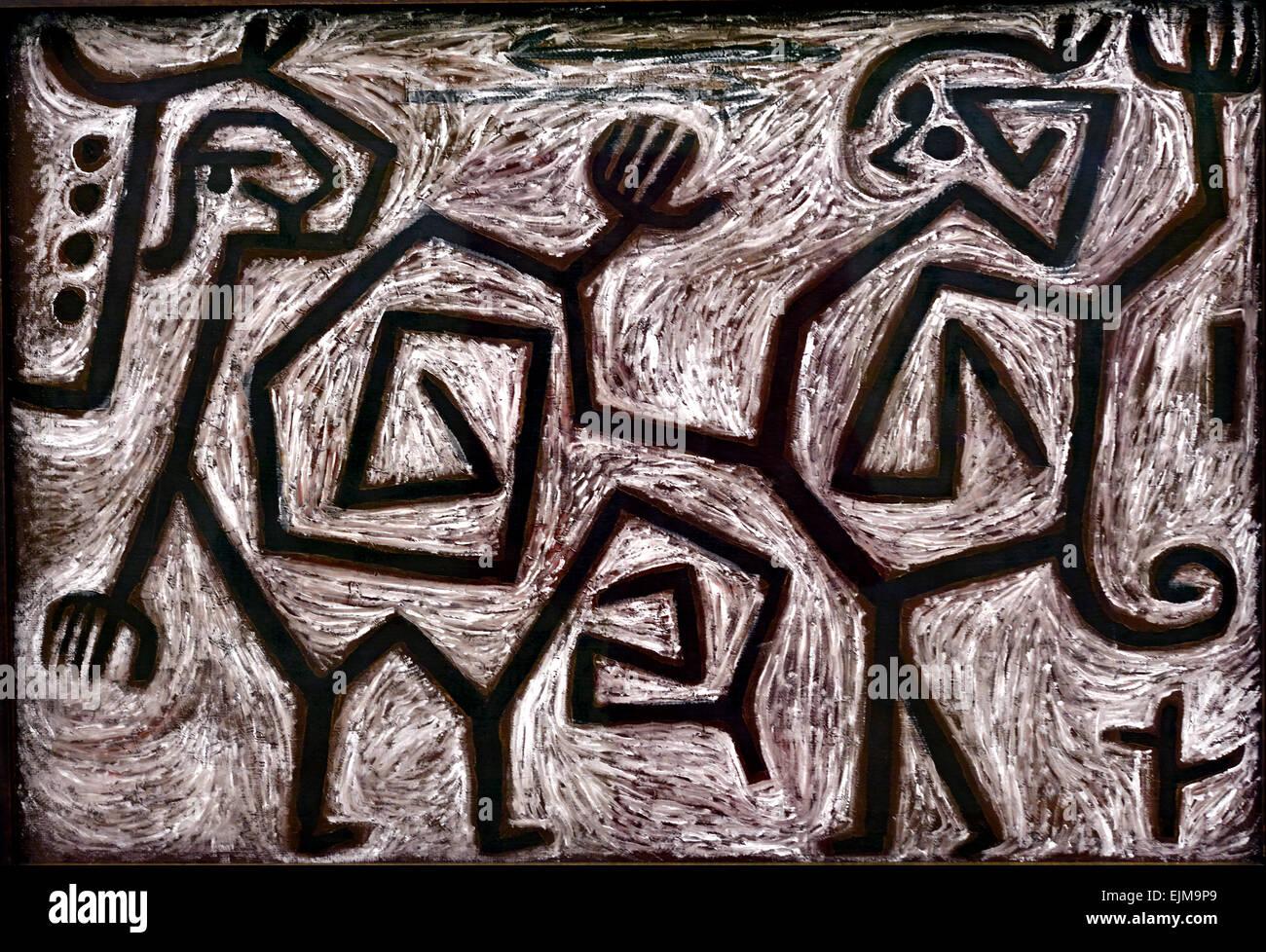 Quarrel Duet 148 ( K 8 ) Paul Klee 1879 - 1940 Switzerland  Swiss - Stock Image