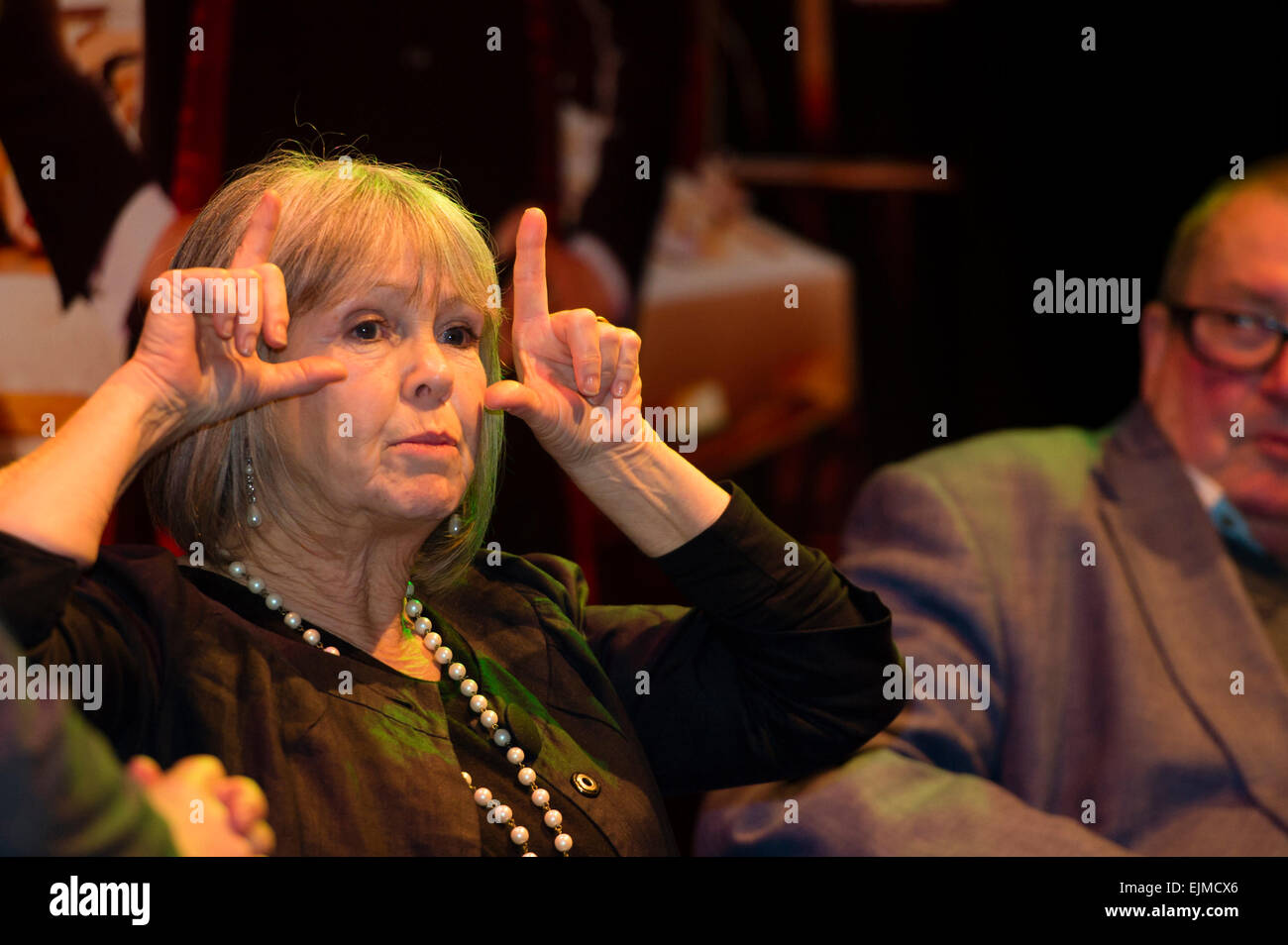Dr Who Convention: Wendy Padbury, who played the Doctor's companion Zoe Heriot during the Patrick Troughton - Stock Image