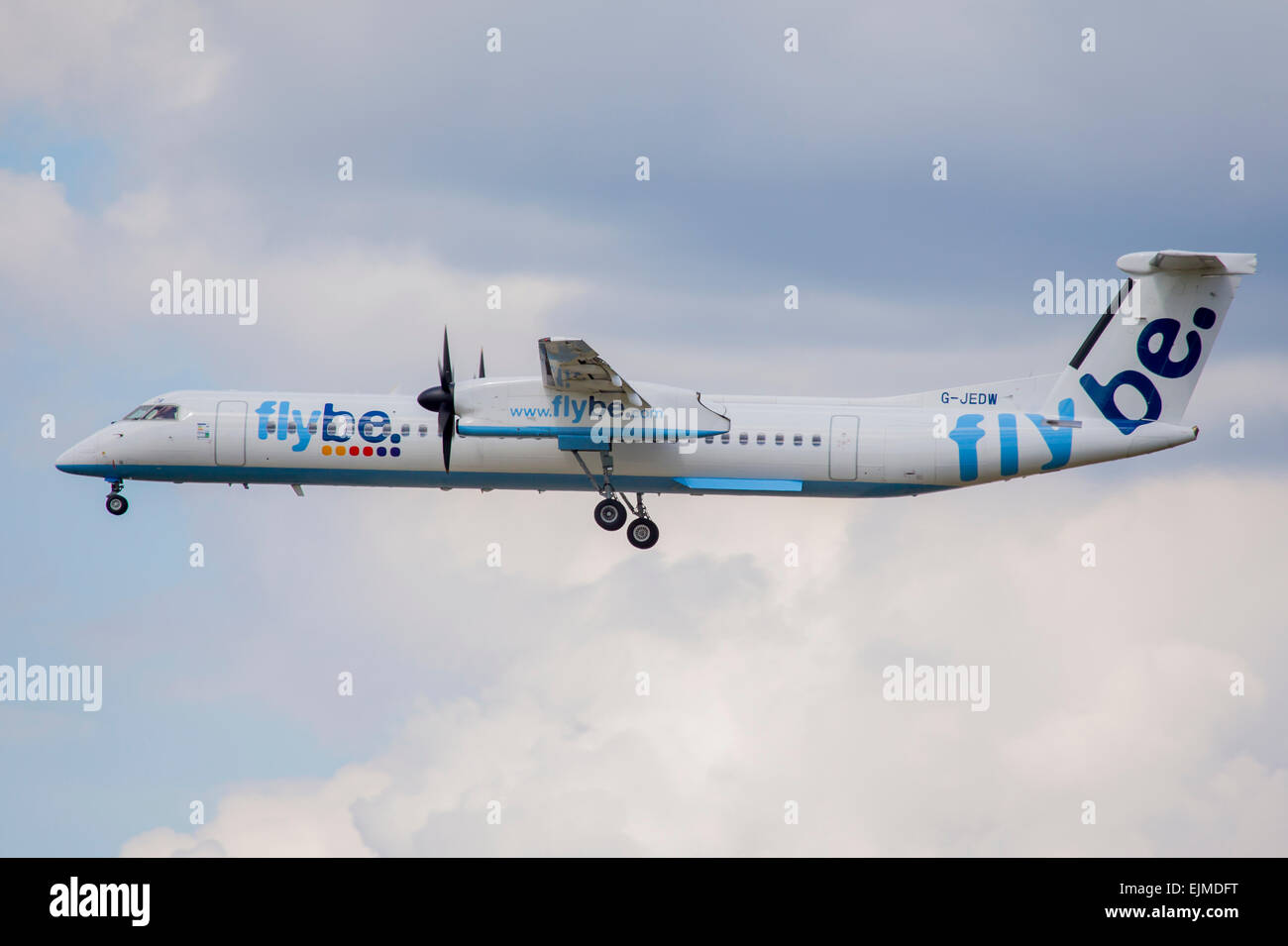 FlyBe Dash8 Aircraft - Stock Image