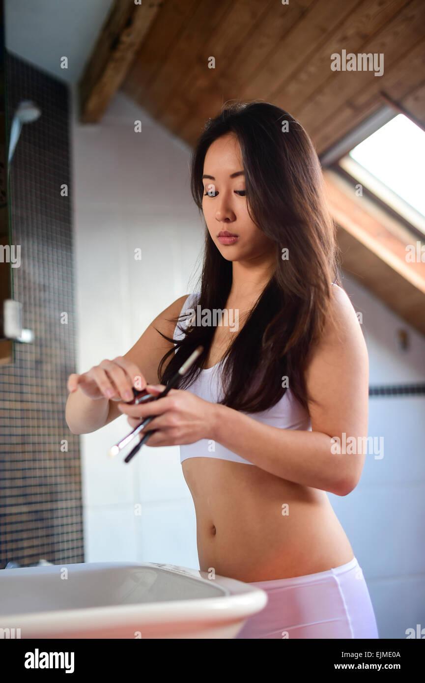 Women white and men asian
