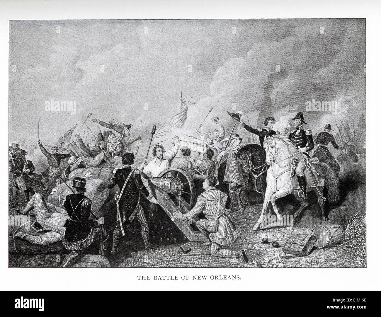 The battle of New Orleans was actually more than one battle. The conflict took place over a period of a few days—from - Stock Image