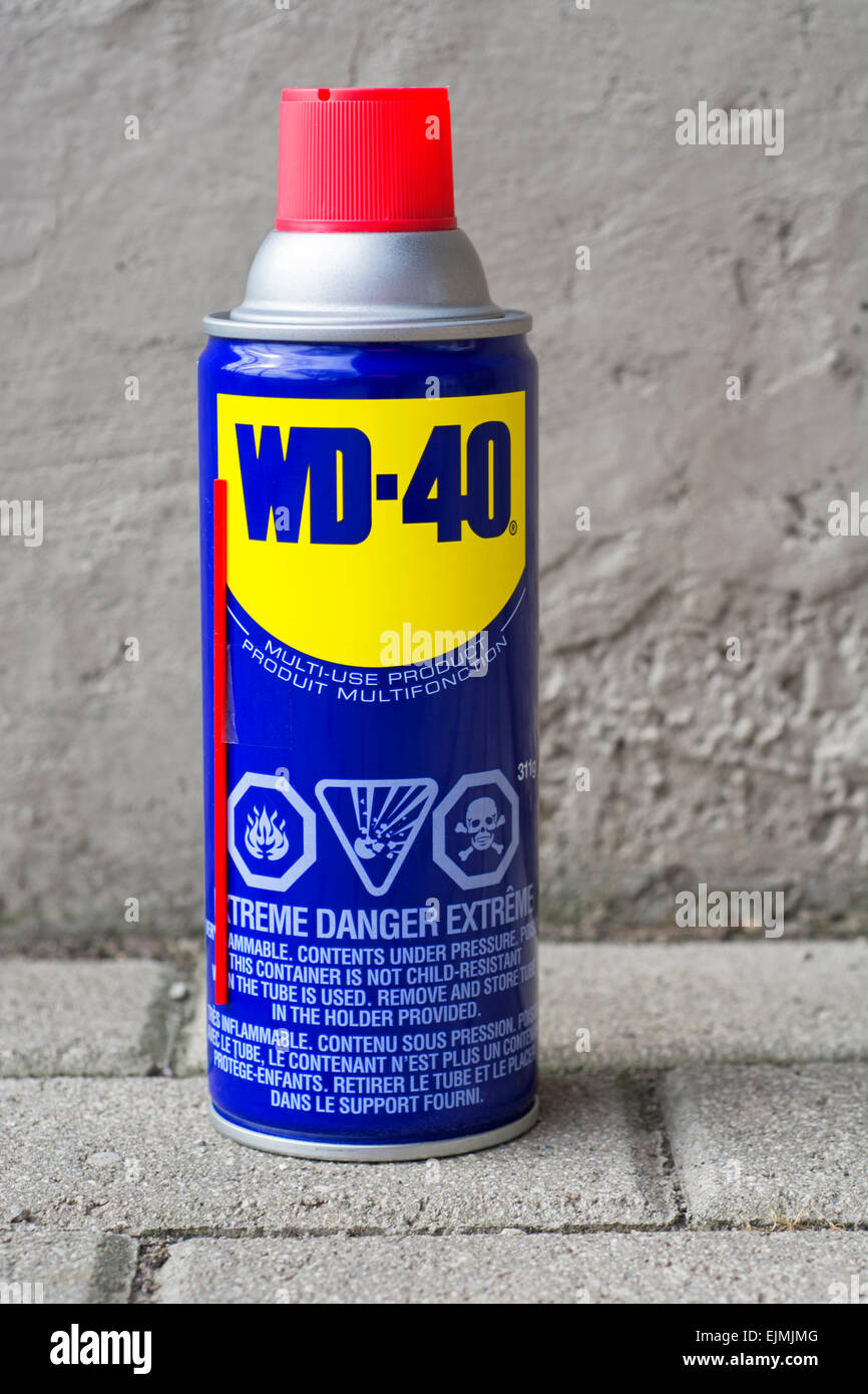 Wd 40 Stock Photos Images Alamy Wd40 Belt Dressing Specialist Can Lubricant Image