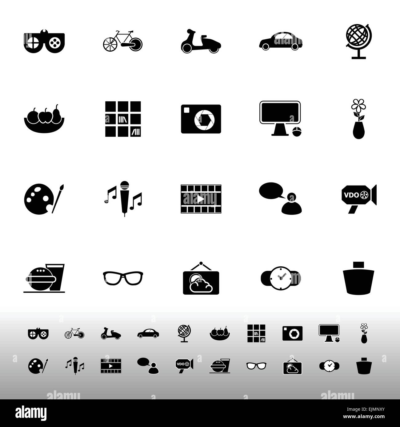 Favorite and like icons on white background, stock vector - Stock Image
