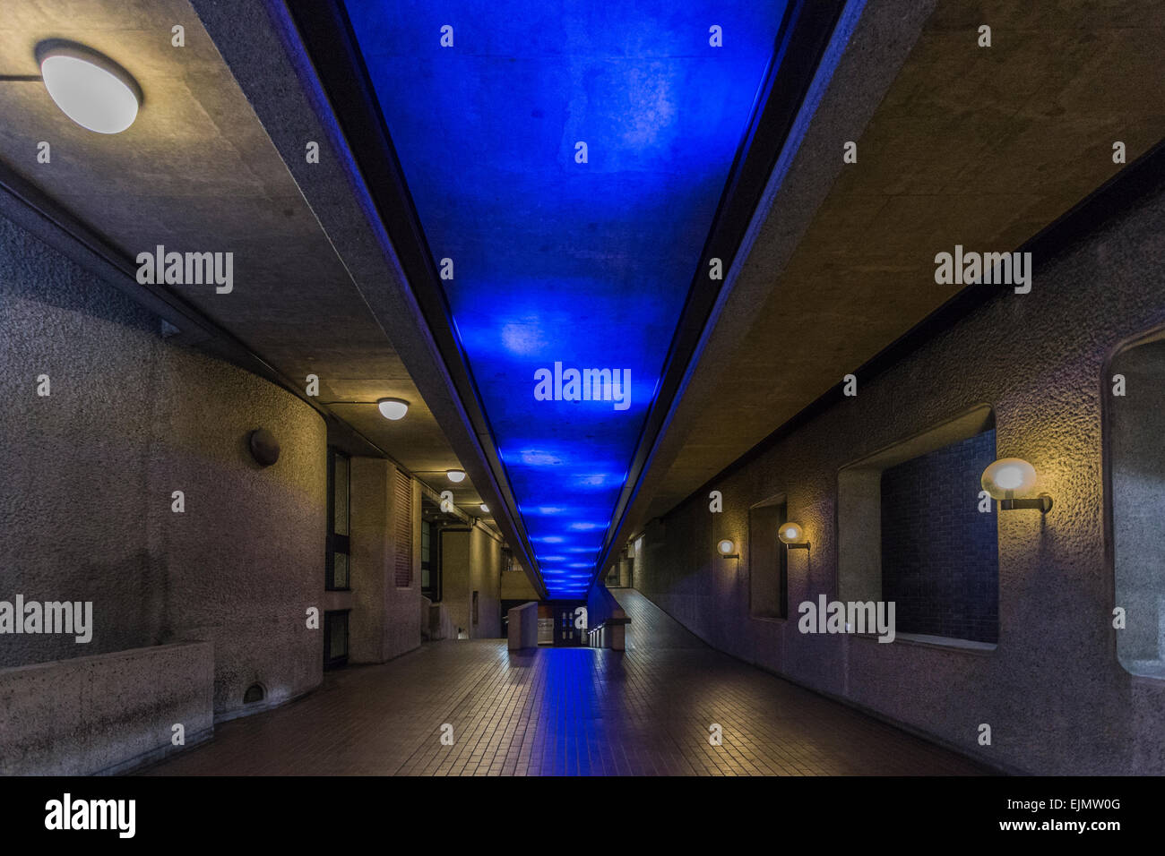 Barbican Centre Pedestrian Ramp, City of London, England, United Kingdom Stock Photo