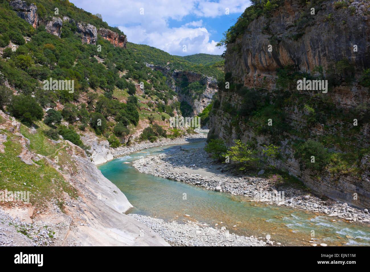 Shkumbin river, Balkan, Albania - Stock Image