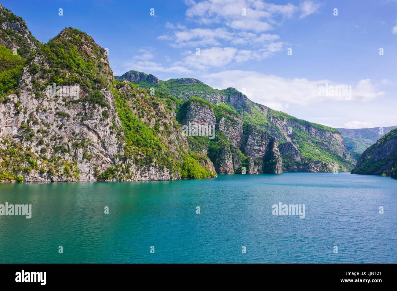 Koman water reservoir, Balkan, Albania - Stock Image