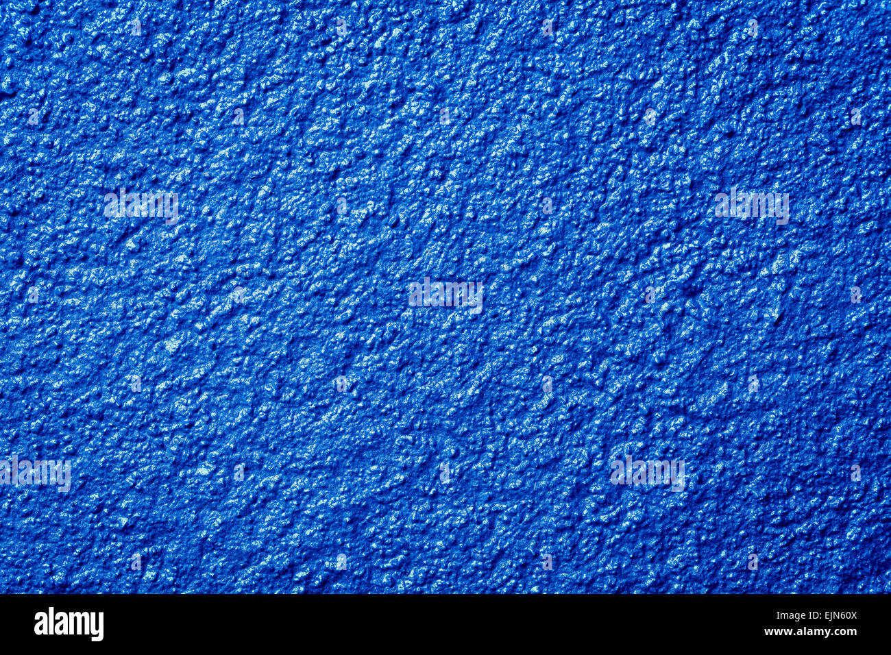 Photo of a grunge blue metallic paint textured background wall Stock