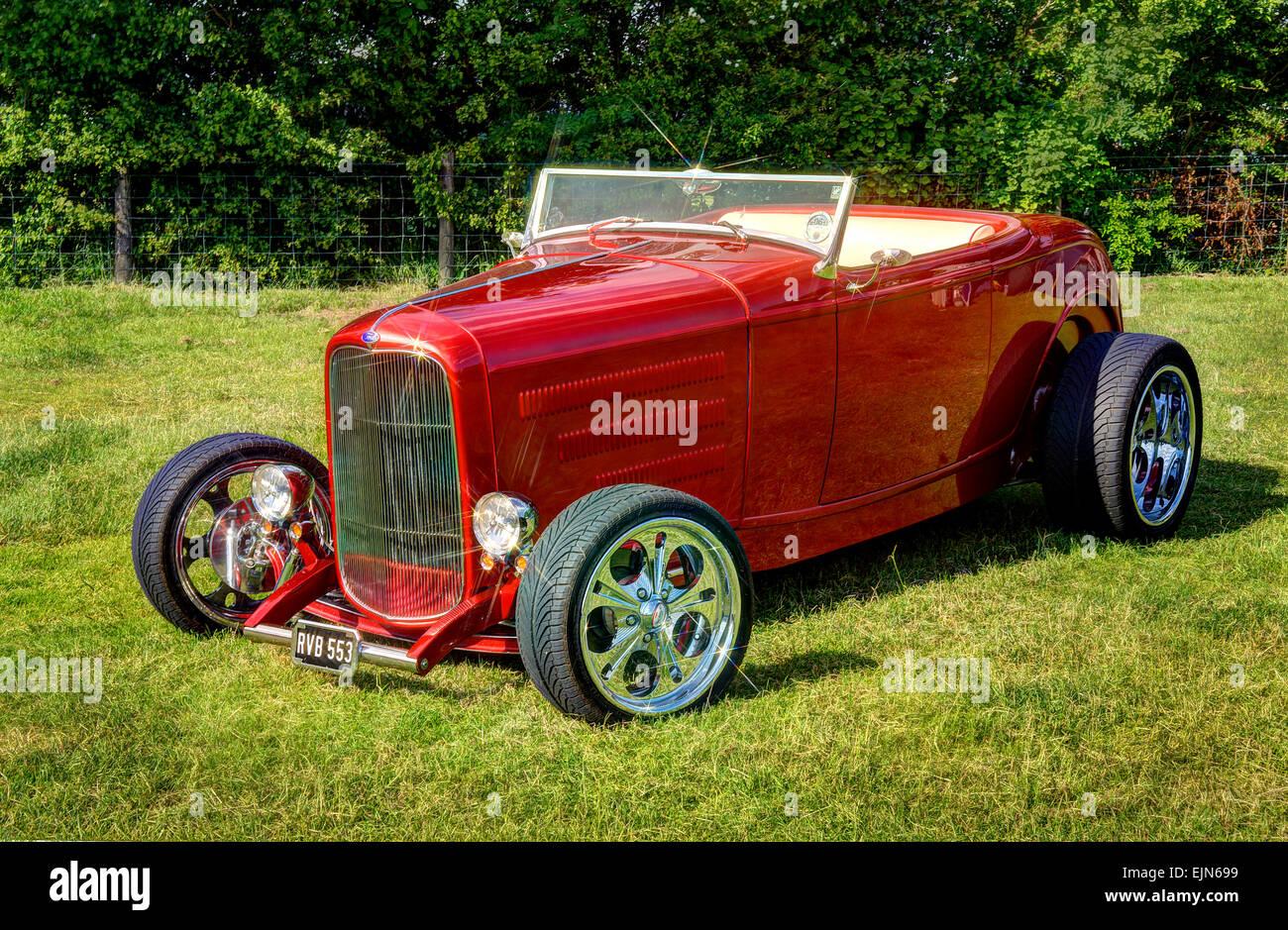 Ford Model B Roadster Hot Rod Stock Photo Alamy