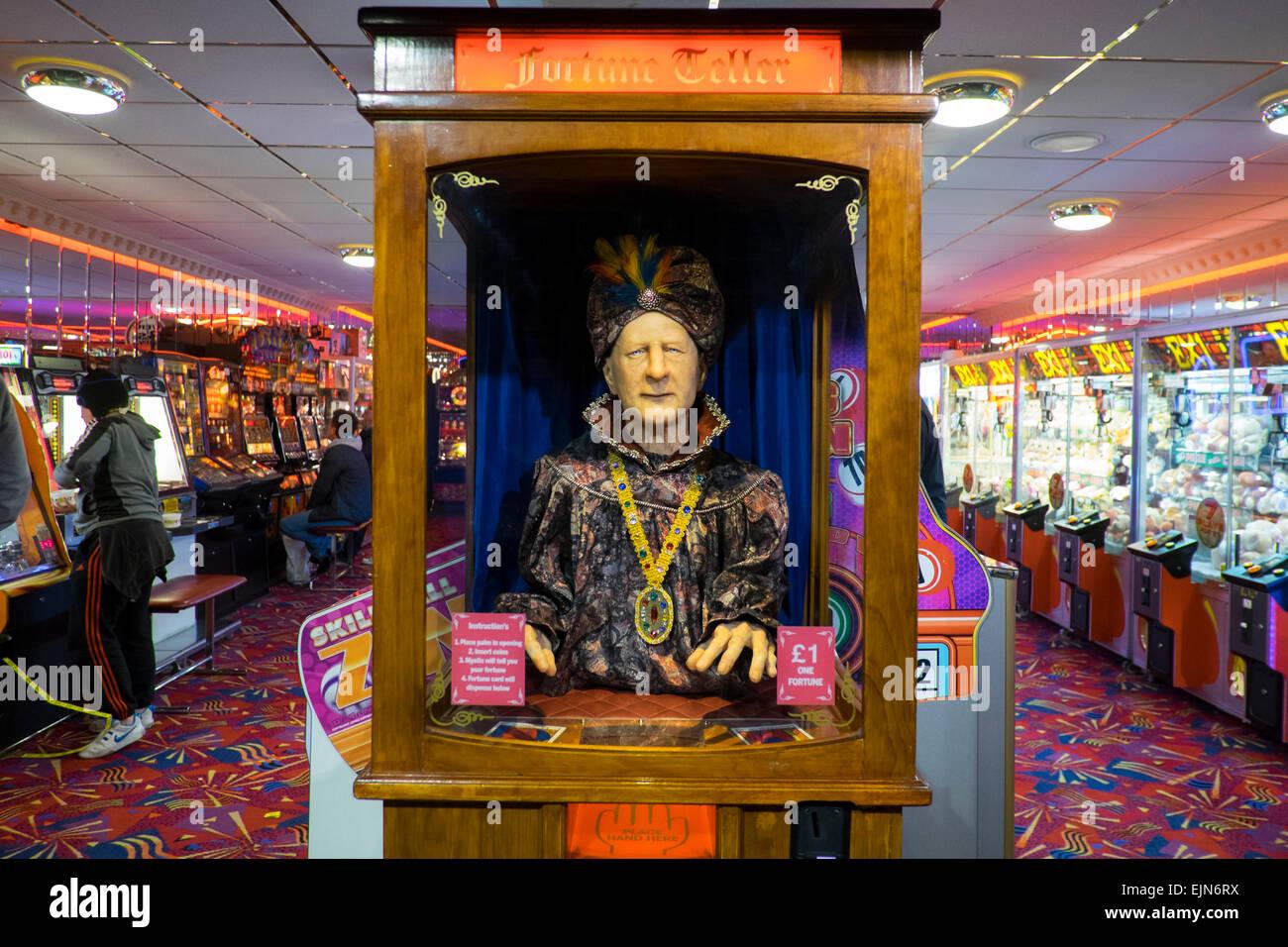 Fortune telling machine in a Llandudno amusement arcade, Conwy,Wales. UK - Stock Image