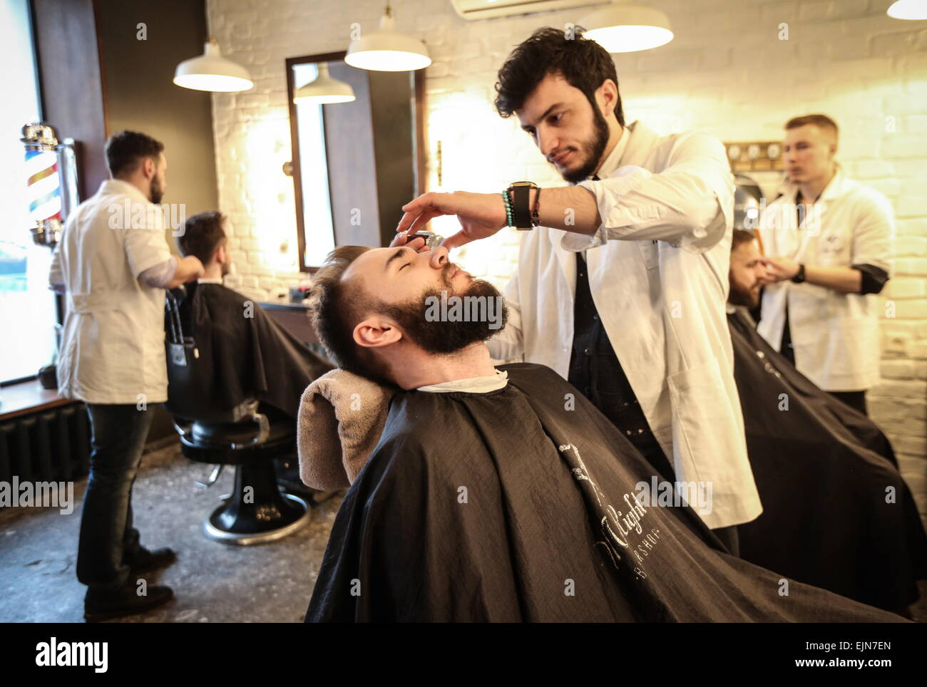 Barber shop for men. Moscow 10