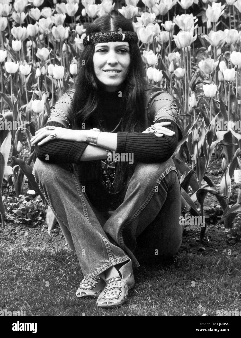 Rita Coolidge, in Regents Park, London, 5th May 1971. Stock Photo