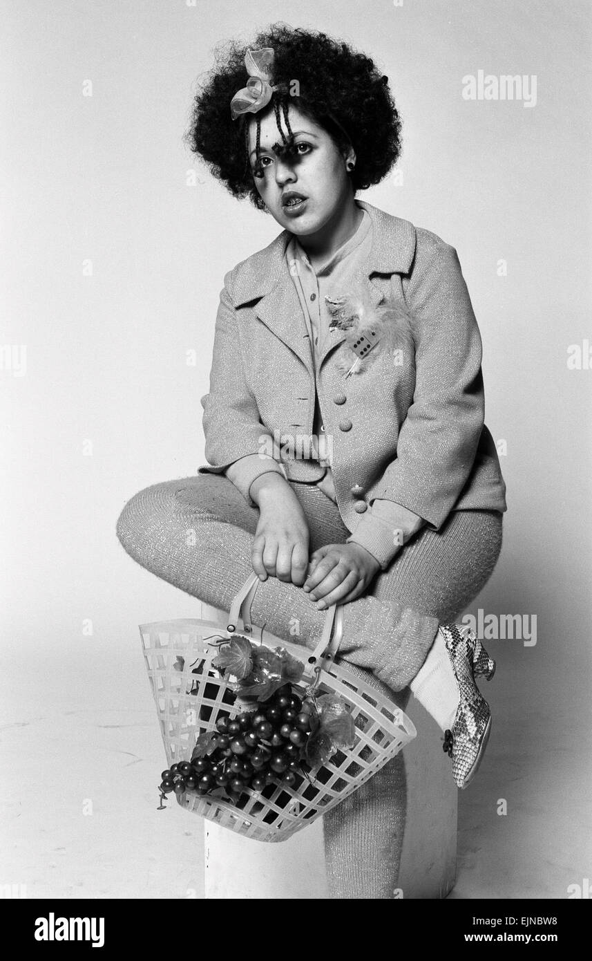 Marianne Joan Elliott-Said, more commonly known as Poly Styrene, lead singer with the pioneering punk group X-Ray - Stock Image