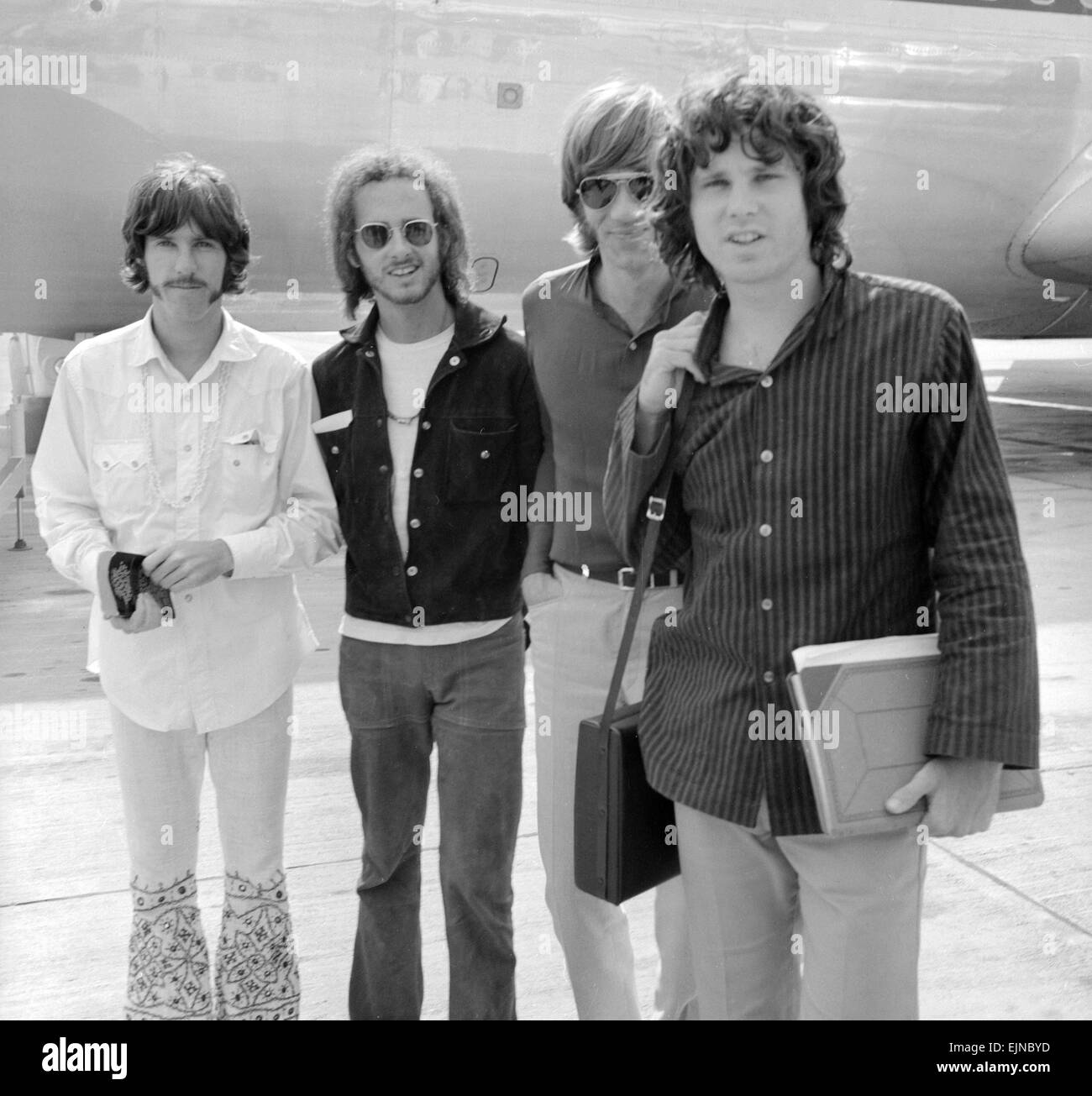 American rock group The Doors arrive at Londonu0027s Heathrow airport. They are left to right drummer John Densmore guitarist Robbie Krieger keyboard player ...  sc 1 st  Alamy & American rock group The Doors arrive at Londonu0027s Heathrow airport ...