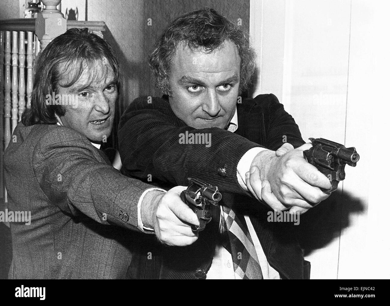 Dennis Waterman (L) and John Thaw in The Sweeney television series - Stock Image