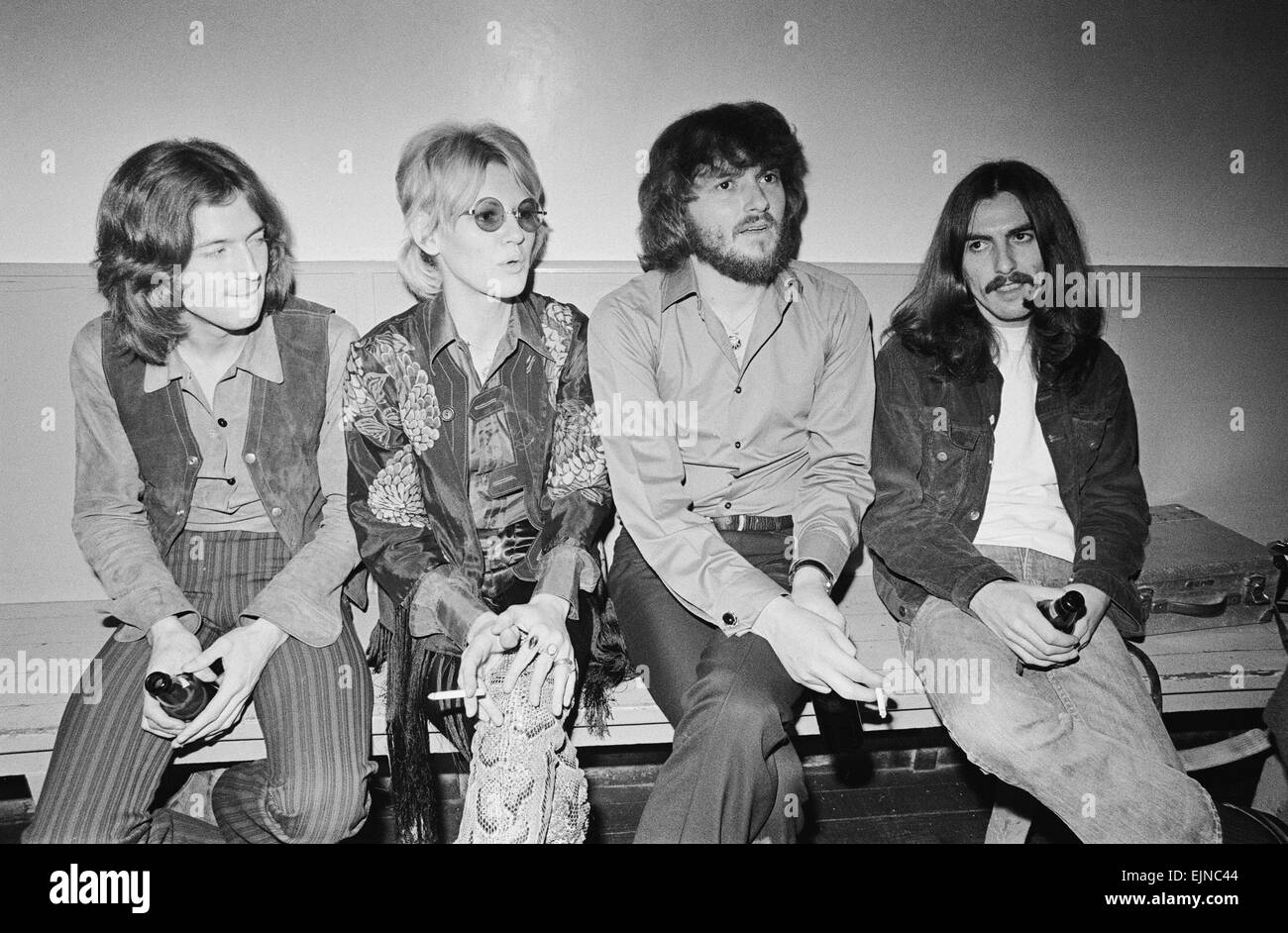 Delaney & Bonnie & Friends music concert at Birmingham Town Hall 4th December 1969. Pictured backstage: - Stock Image
