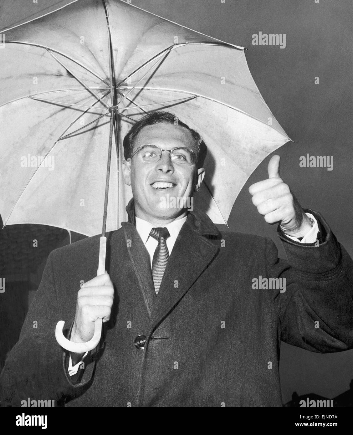 Yorkshire cricketer Geoffrey Boycott in happy mood after hearing he has been picked for the England team. 31st May - Stock Image