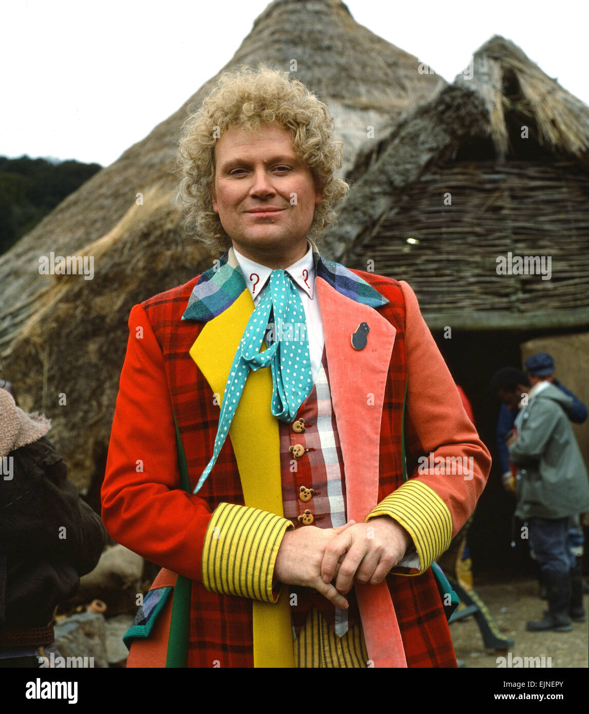 Actor Colin Baker, who plays Doctor Who in the BBC science fiction programme, photographed during filming at Butser Stock Photo