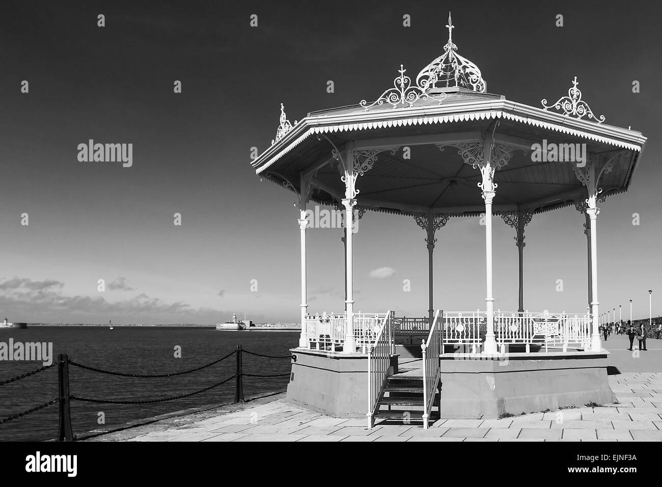 Dún Laoghaire is a suburban seaside town in County Dublin, Ireland - Stock Image