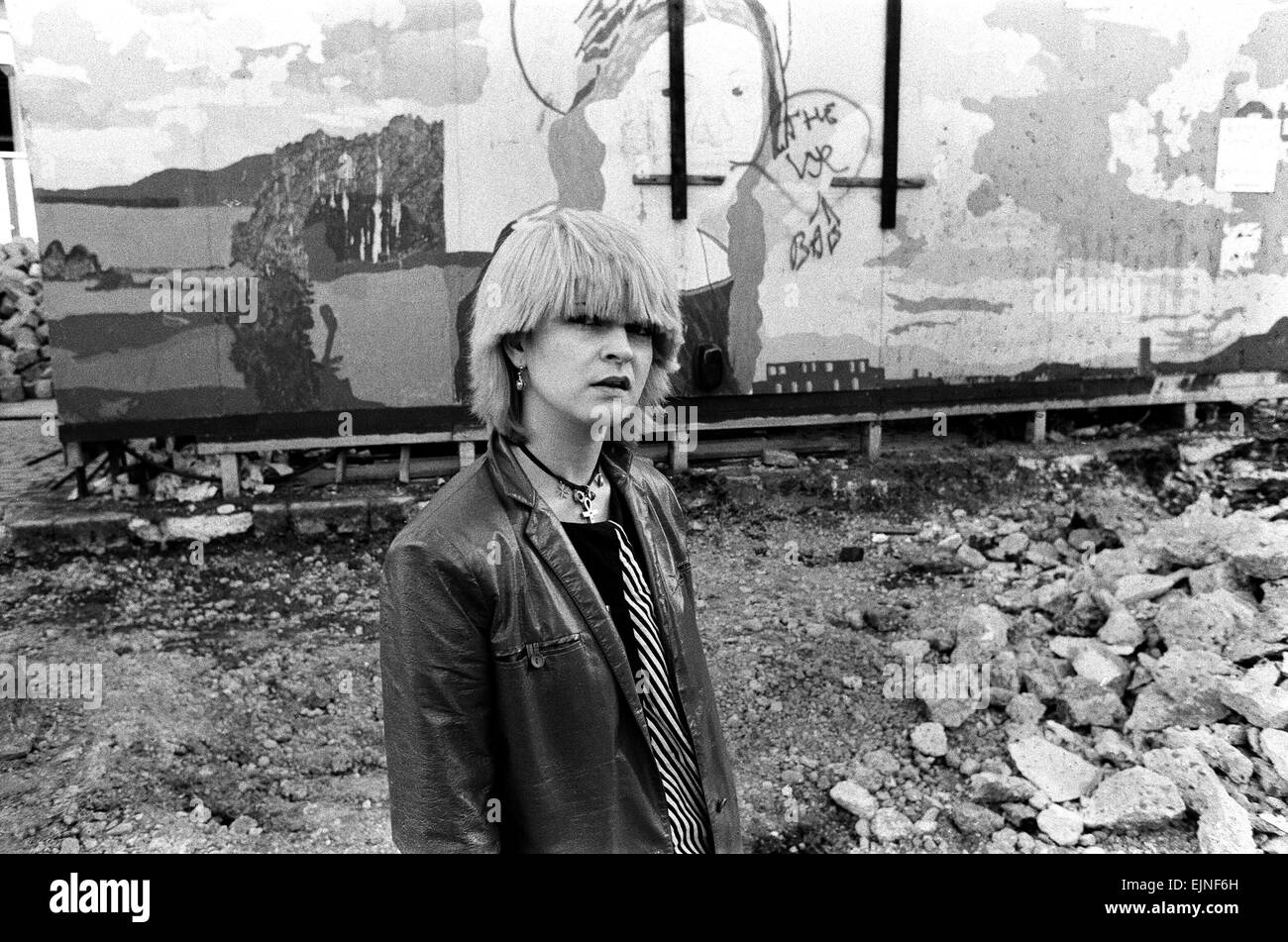 Punk actress and singer Toyah Wilcox photographed in Covent Garden. 22nd August 1979. - Stock Image