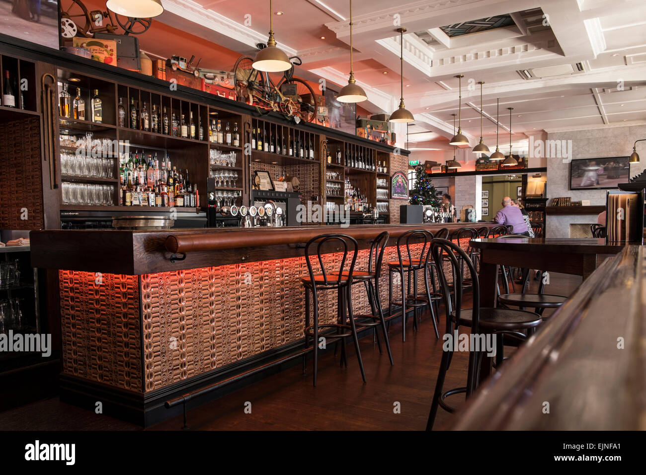 the masonic hotel interior of the bar restaurant area with old stock photo 80378313 alamy. Black Bedroom Furniture Sets. Home Design Ideas