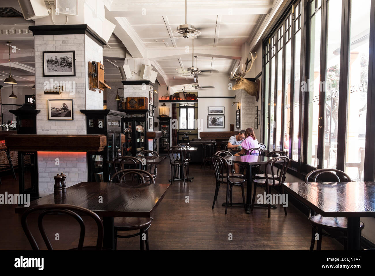 The Masonic Hotel Interior Of The Bar Restaurant Area With Old Stock Photo Alamy