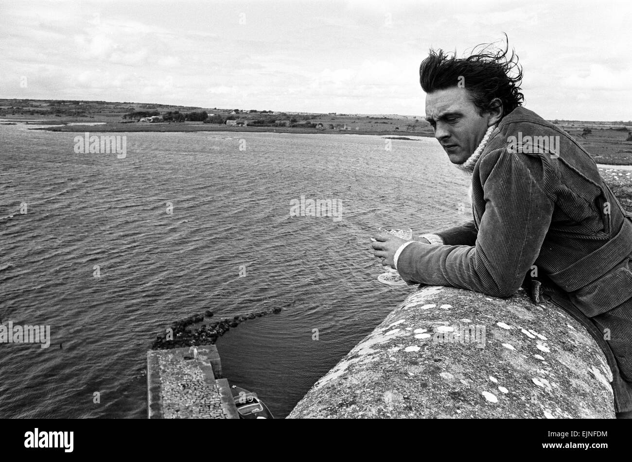 British Actor David Hemmings, pictured at Oranmore Castle, which is approximately 10km from Galway City, 21st June - Stock Image