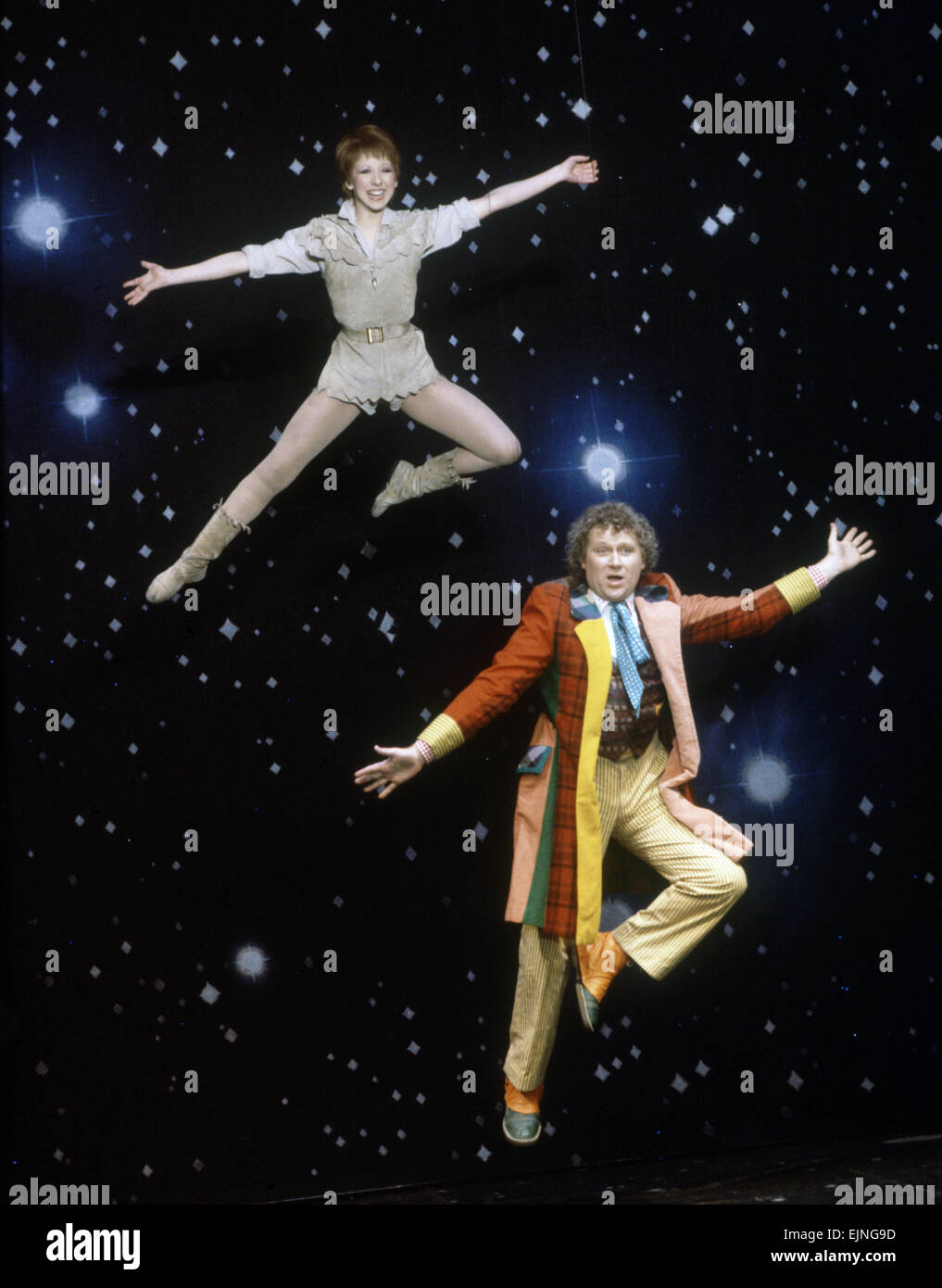 Actor Colin Baker, who plays Doctor Who in the BBC science fiction programme, photographed with Bonnie Langford Stock Photo