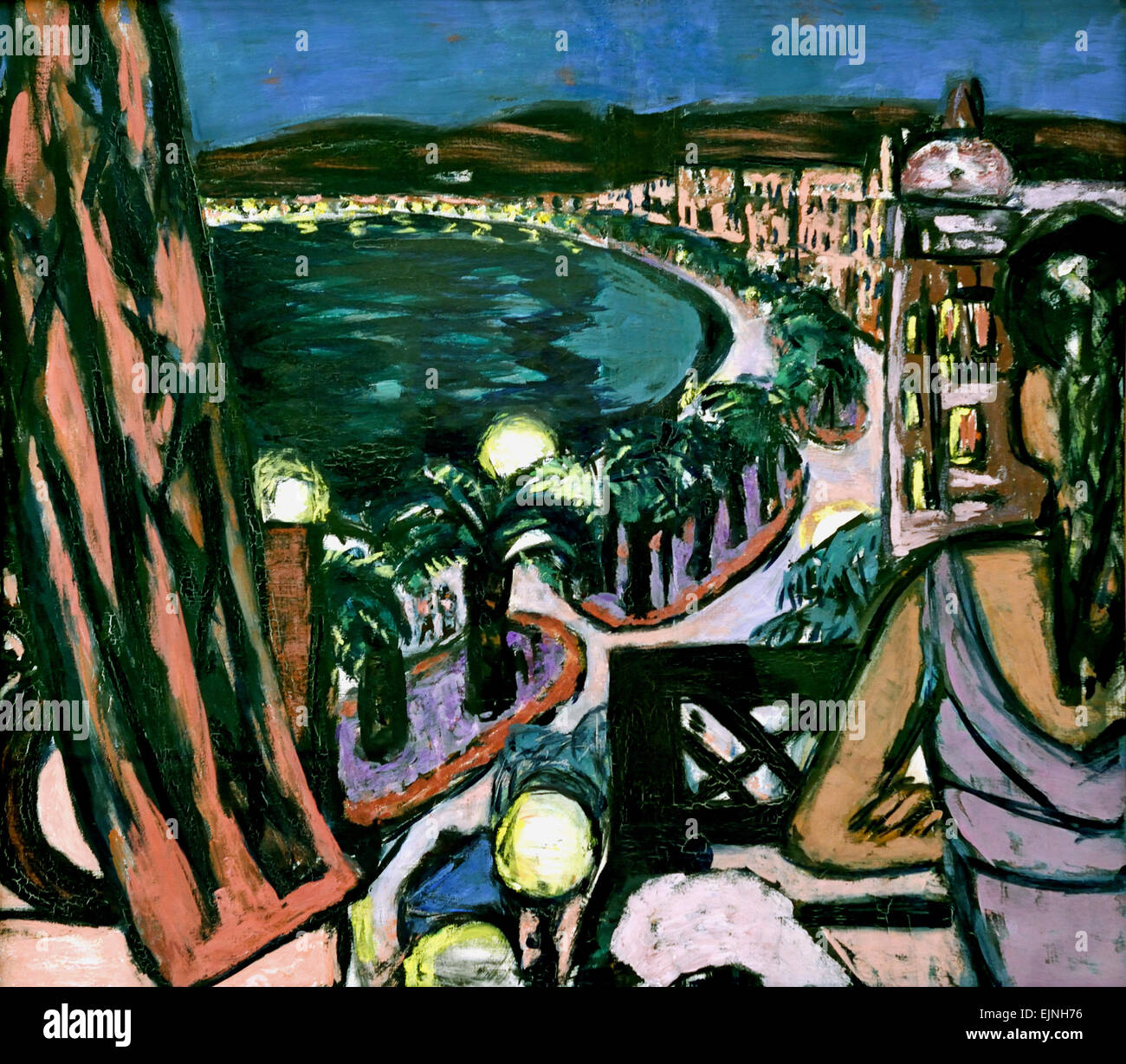 Promenade des Anglais in Nizza 1947 Promenade des Anglais in Nice , Max Beckmann 1884-1950 German Germany - Stock Image