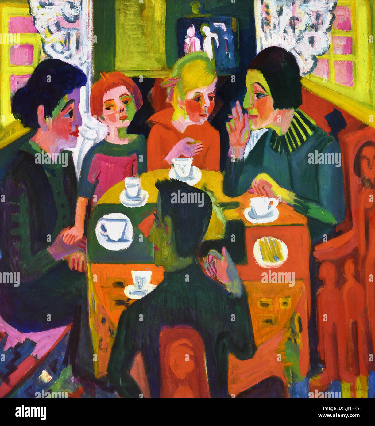 Coffee Table 1923 Ernst Ludwig Kirchner 1880-1938 German Germany - Stock Image