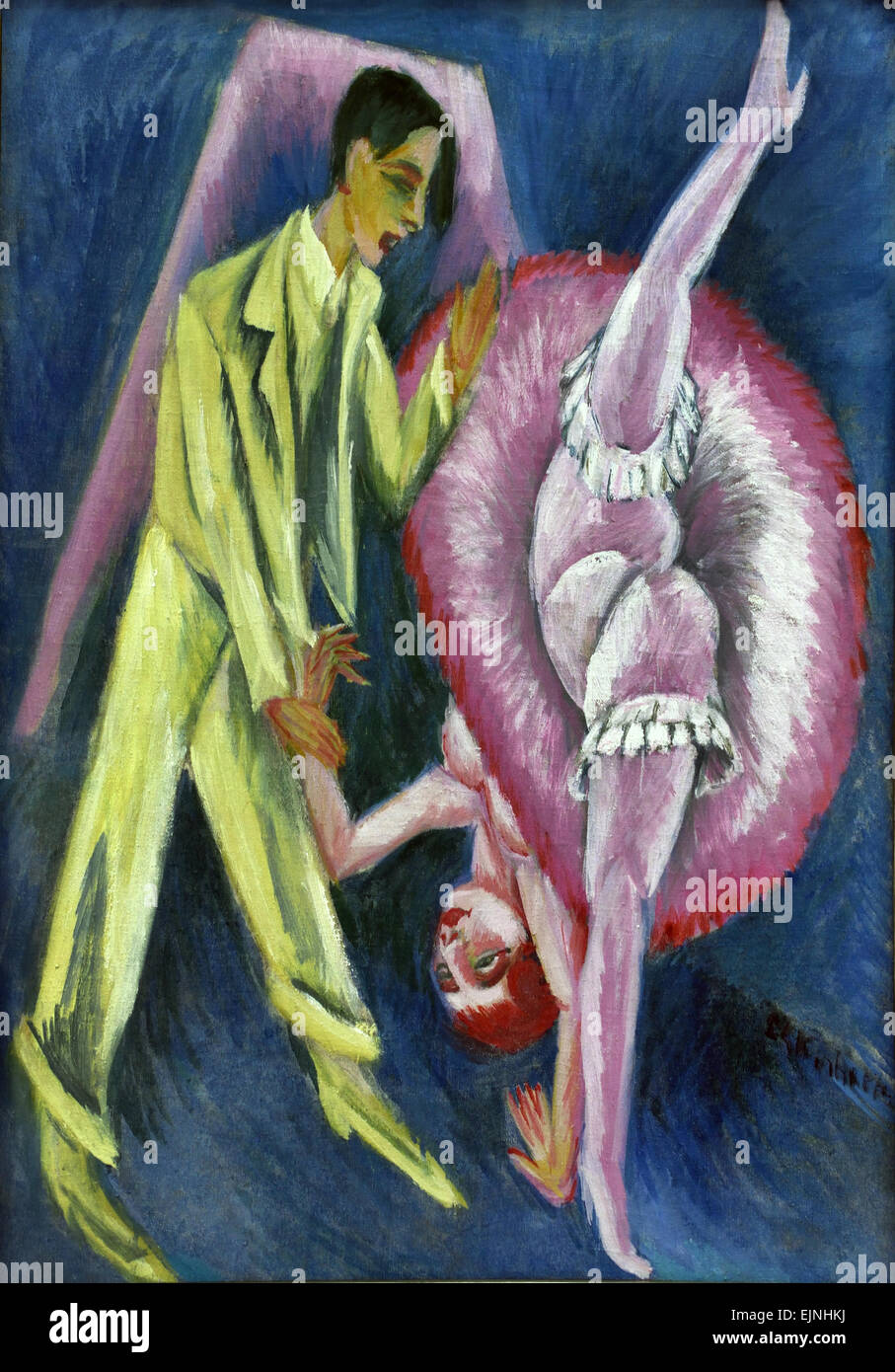 Tanzpaar, 1914 Dancing Couple , Ernst Ludwig Kirchner 1880-1938 German Germany - Stock Image