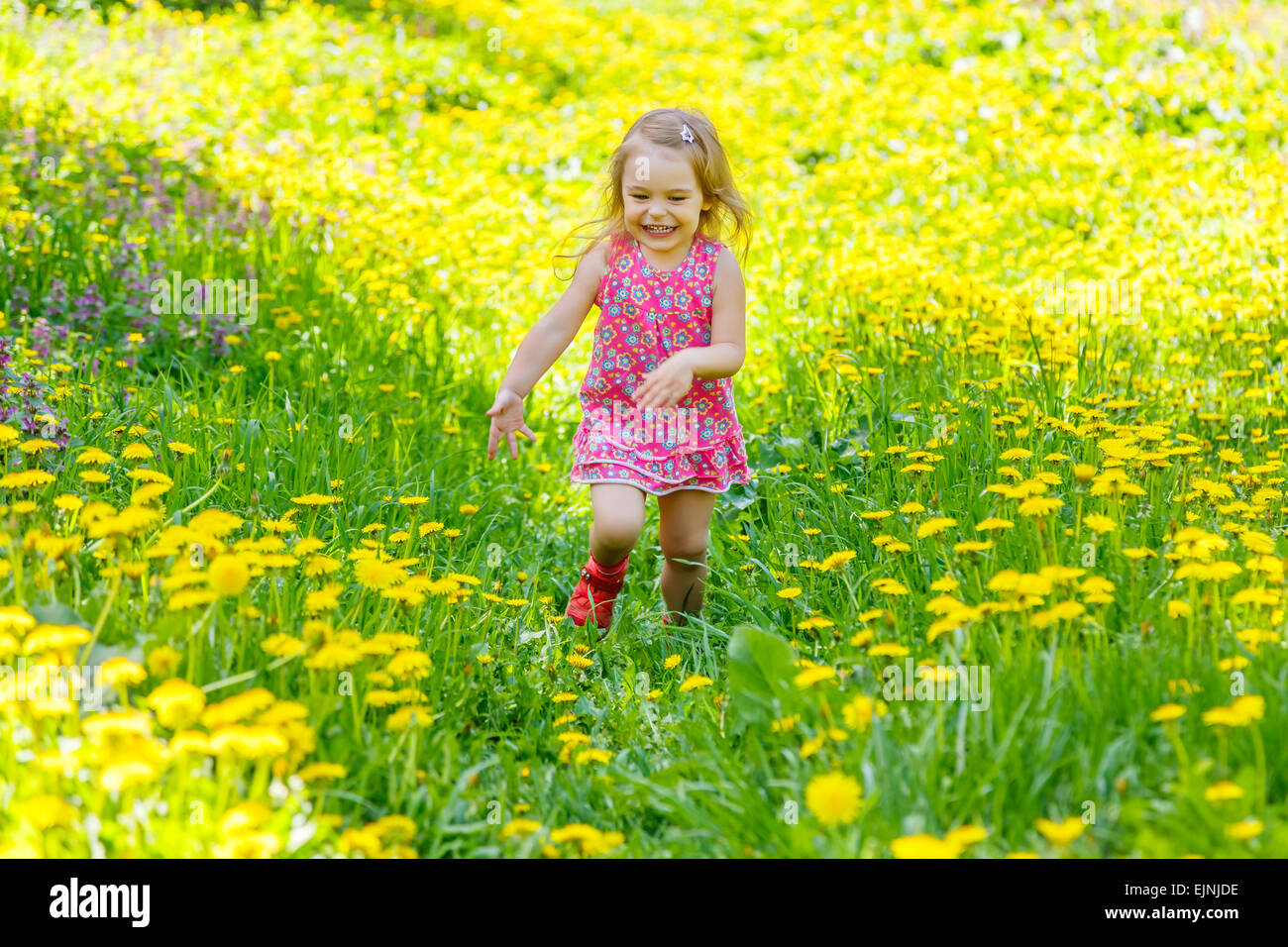 Little girl in the park - Stock Image