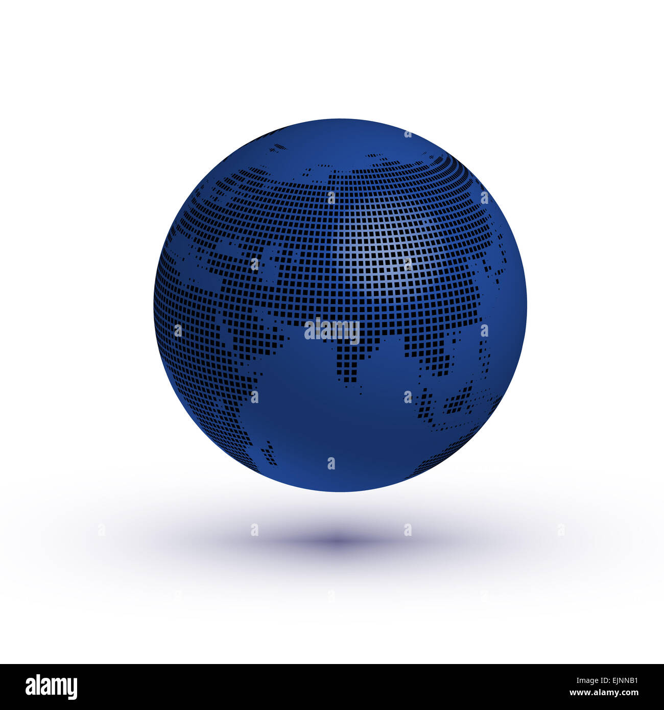 Globe asian view with reflection vector - Stock Image