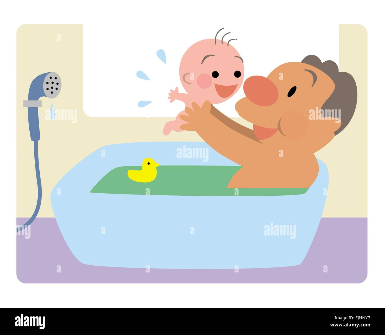 Bath Time With Dad Stock Photos & Bath Time With Dad Stock Images ...