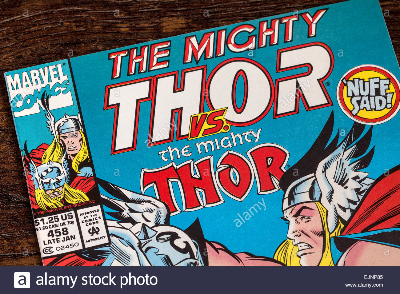 The Mighty Thor Comic - Marvel Comics - Stock Image